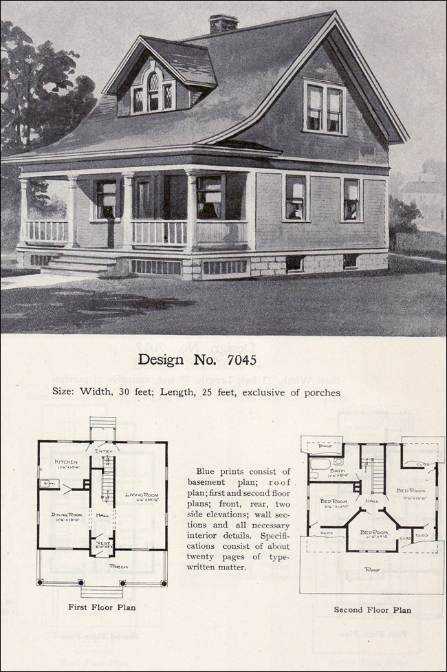 late queen anne cottage 1908 plan no 7045 radford On queen anne cottage house plans
