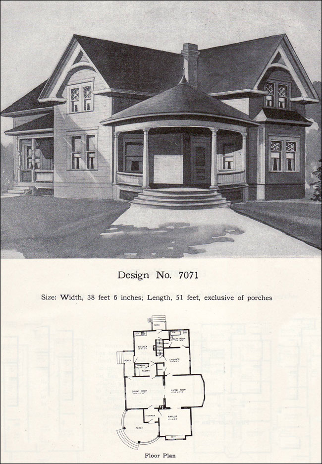 Small Queen Anne Cottage Plan 1908 Radford House Plans