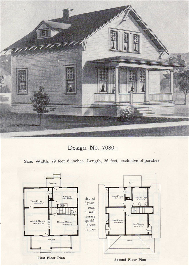 Twp Story Bungalow Cottage Plan 1908 Radford No 7080