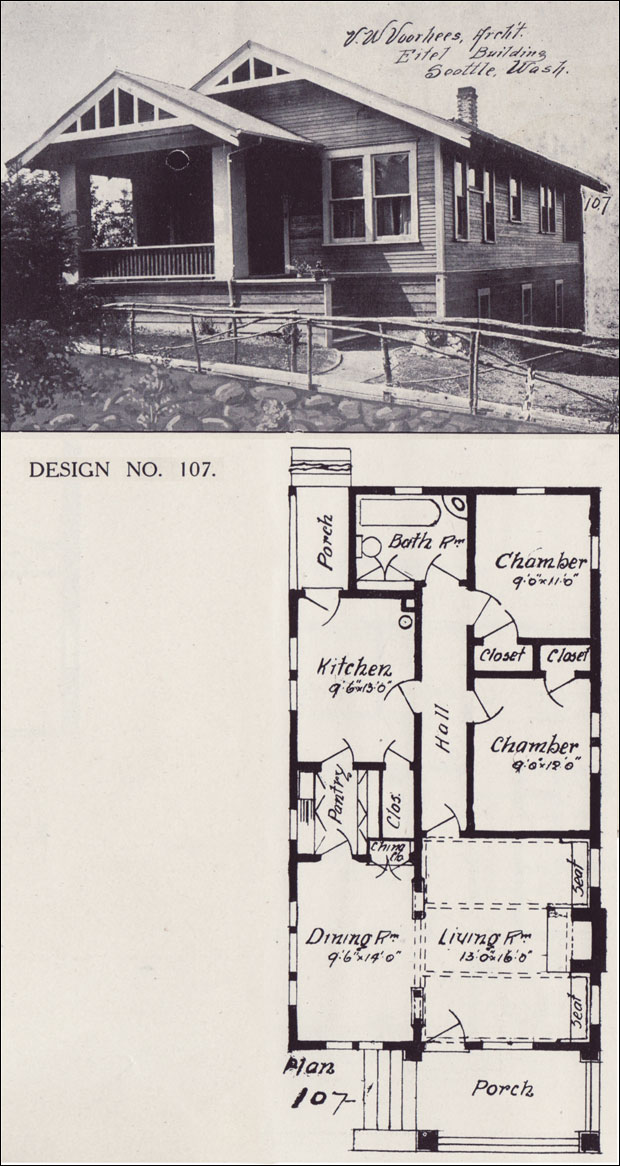 1908 Basic Bungalow House Plan Western Home Builder