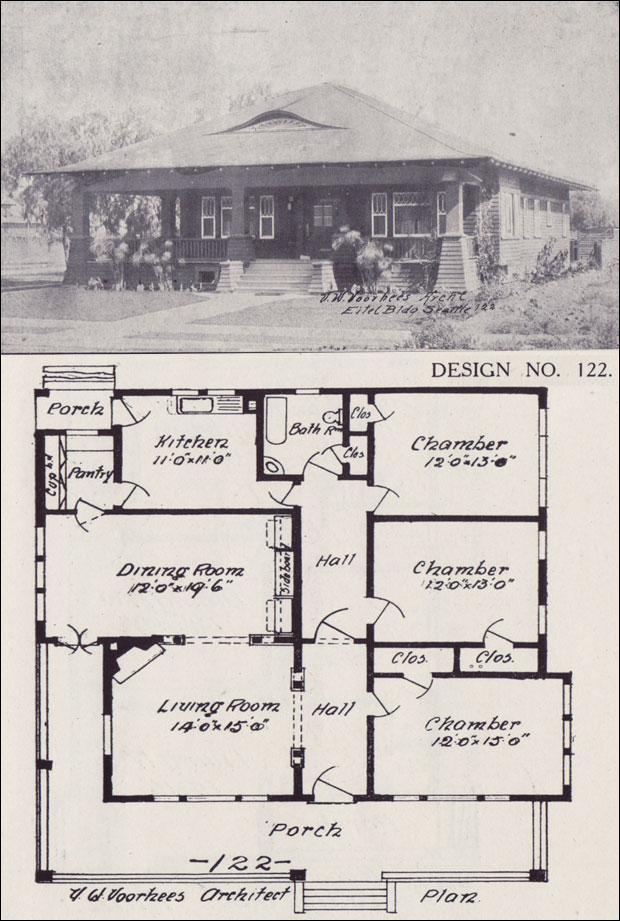 1908 Bungalow House Plan Western Home Builder Design