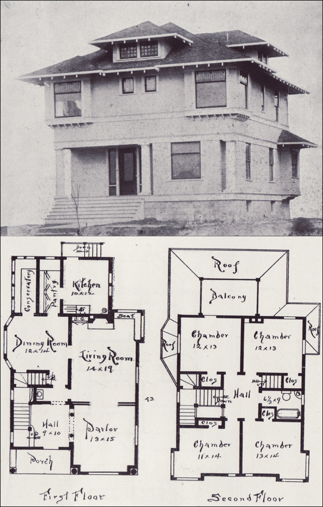 Northwest Craftsman House Plan - Seattle Vintage Houses - 1908 ...