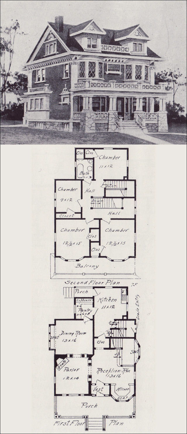 Free home plans vintage floor plans for Vintage home plans