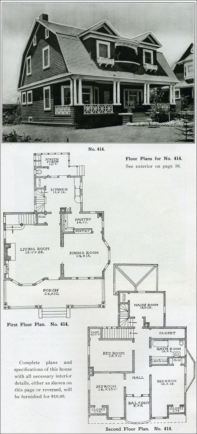The philosophy of interior design early 1900s part 4 for Antique colonial house plans