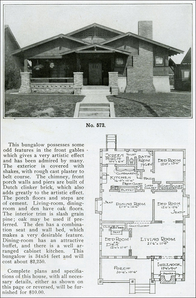 1910 - The Bungalow Book - No. 573