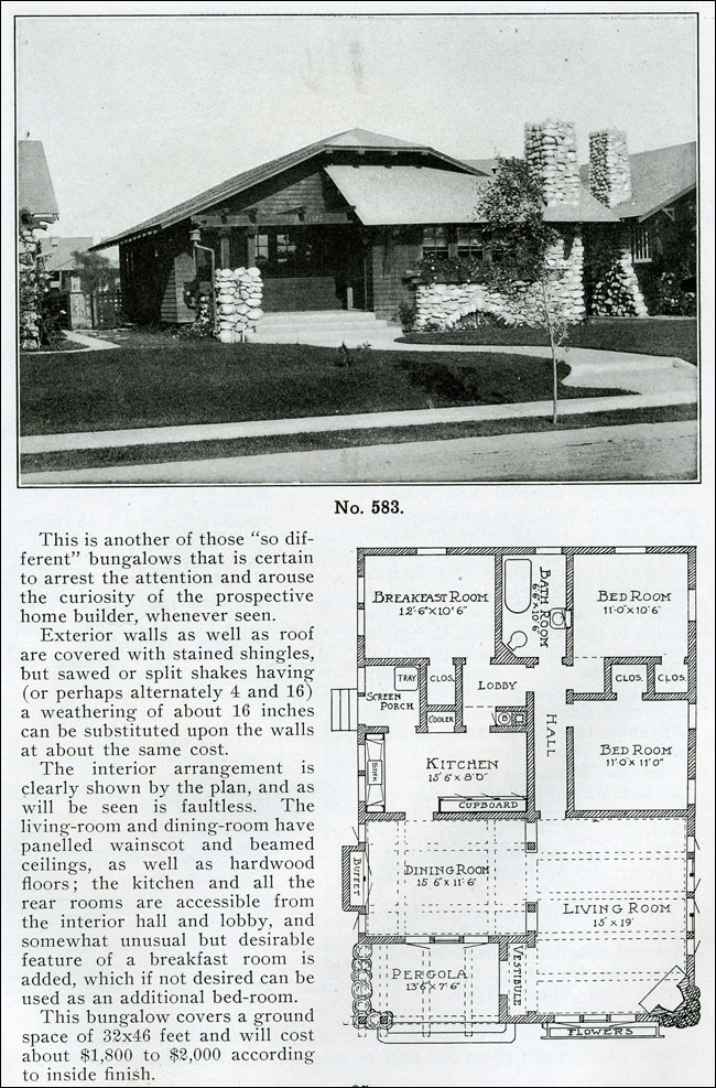 1910 - the Bungalow Book - No. 583