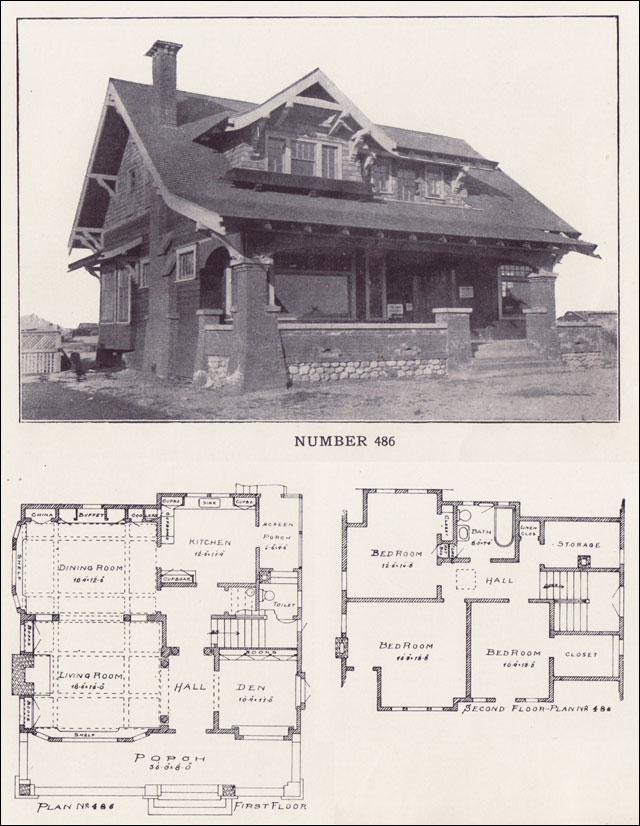1912 california craftsman bungalow los angeles California bungalow floor plans