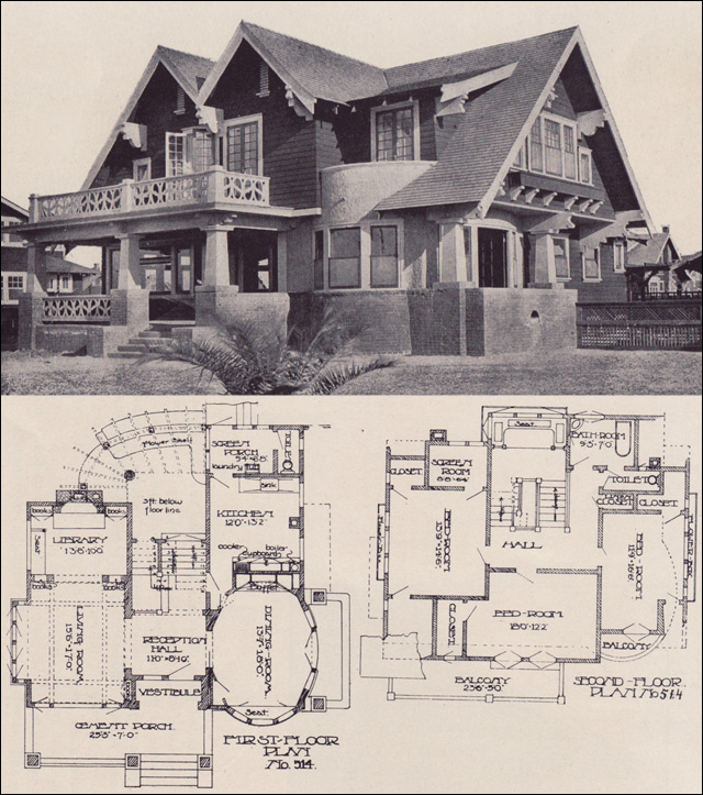 no. 514 house plan - los angeles investment company - 1912