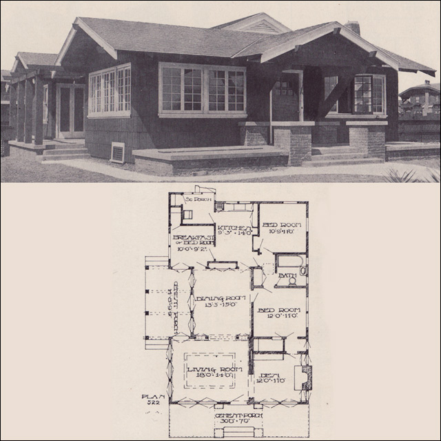 California bungalow 1912 los angeles investment company California bungalow floor plans