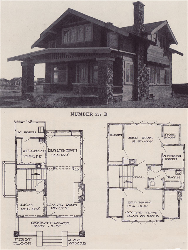1912 california two story bungalow clinker brick California bungalow floor plans