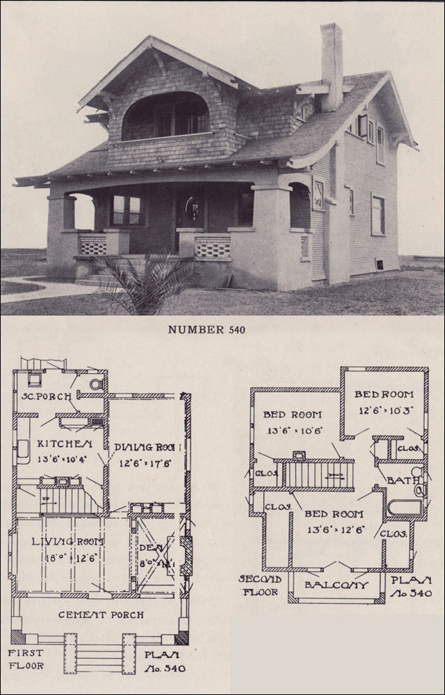 1912 california bungalow los angeles investment company House plans ca