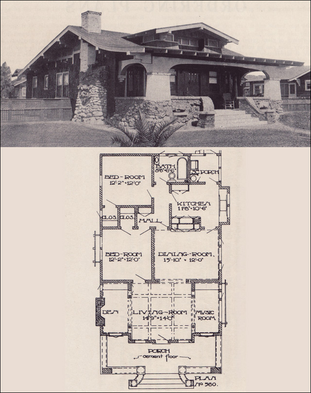 1912 california craftsman bungalow los angeles for California craftsman house plans