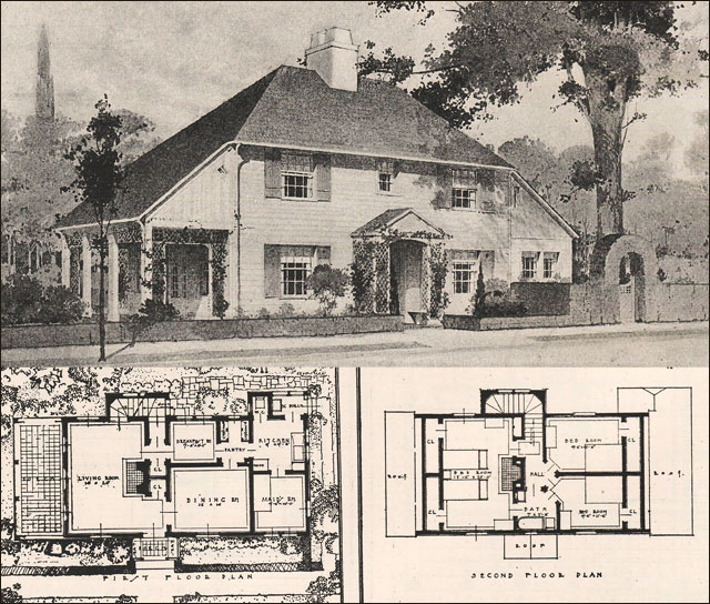 English Arts Crafts Style House Design 11 1916 Ideal Homes