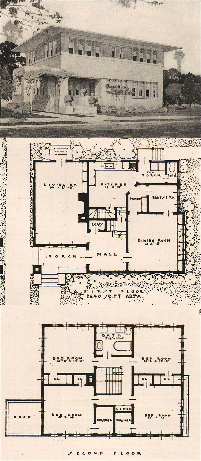 Prairie Style House Two story Four Bedroom 1916 Ideal Homes