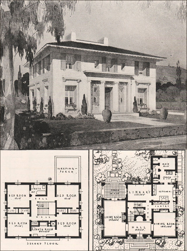 Italian renaissance style house francis pierpont davis for Italian house designs plans