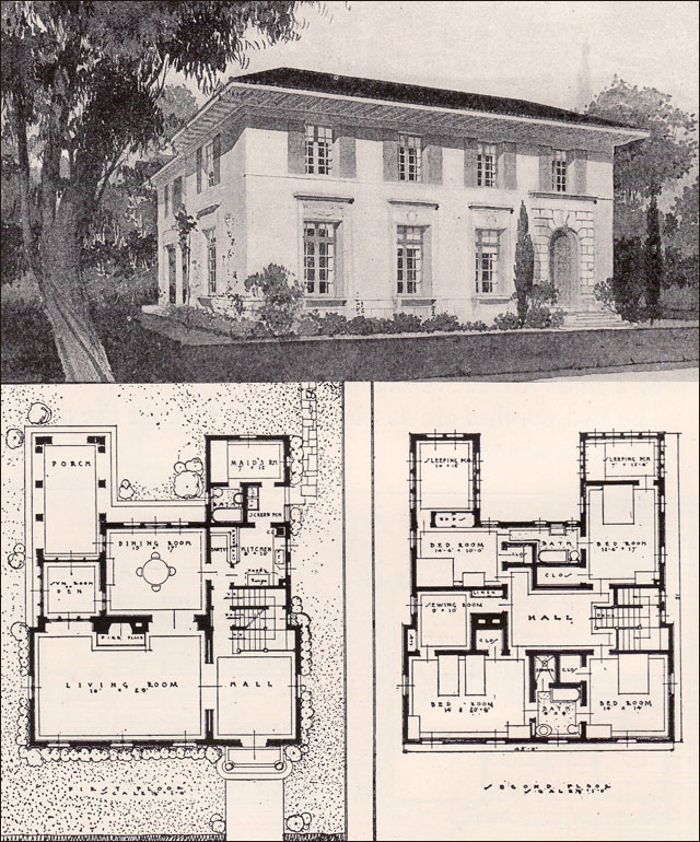 Italian renaisance style house 1916 ideal homes in Italian style house plans