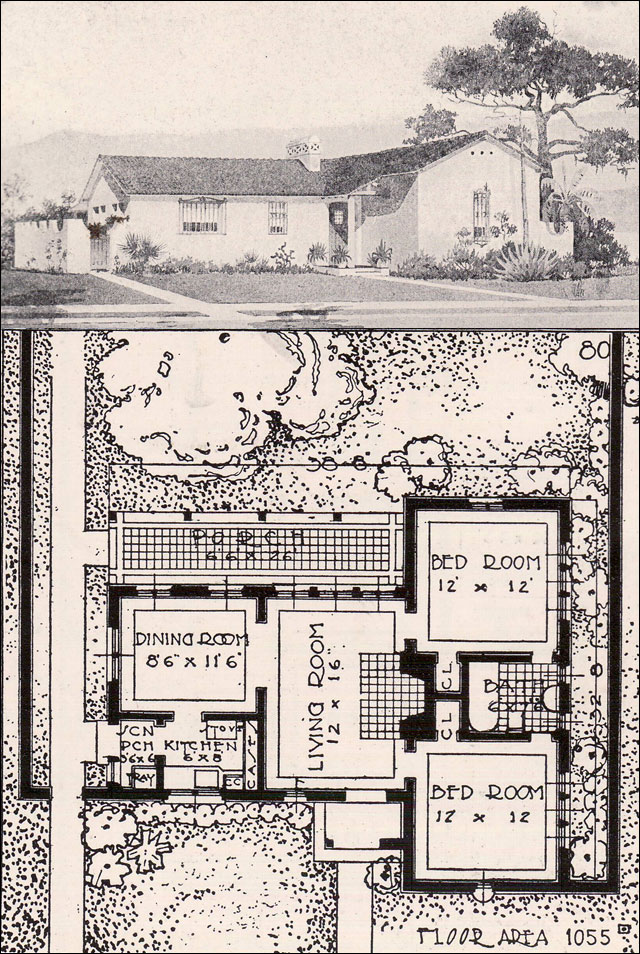 California spanish revival early ranch 1916 ideal for California style house plans