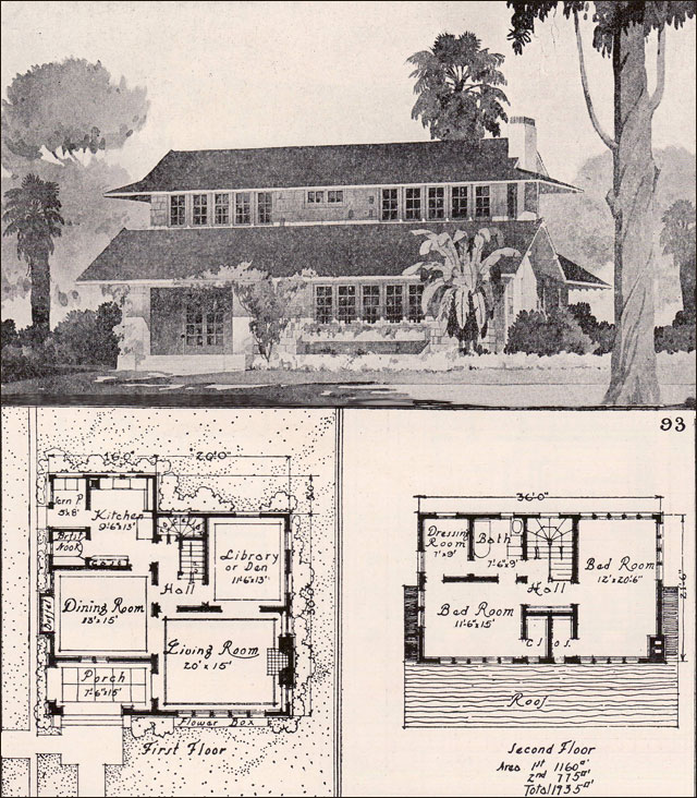 1916 unusual bungalow ideal homes in garden communities for Swiss chalet plans