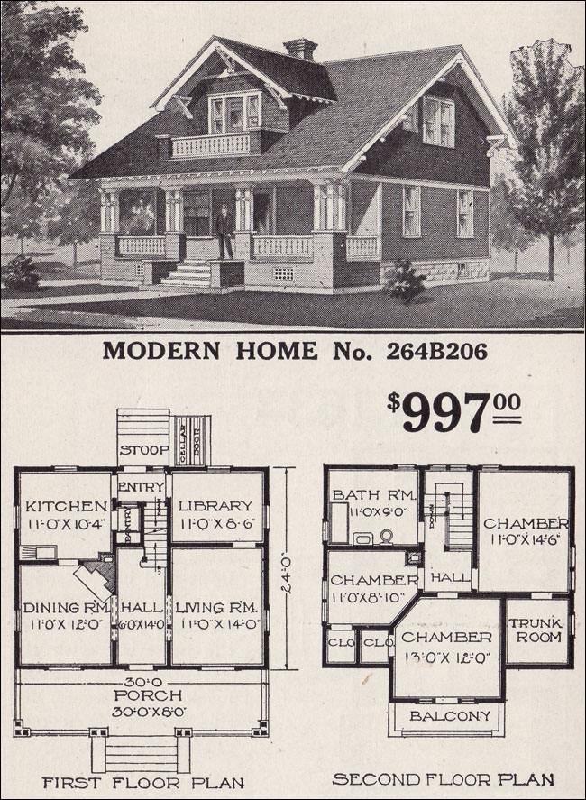 1916 sears modern home 264b206 swiss chalet craftsman for Catalog houses