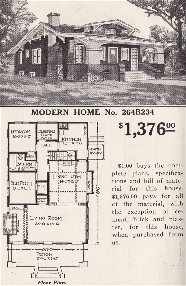 sears craftsman bungalow floor plans trend home design