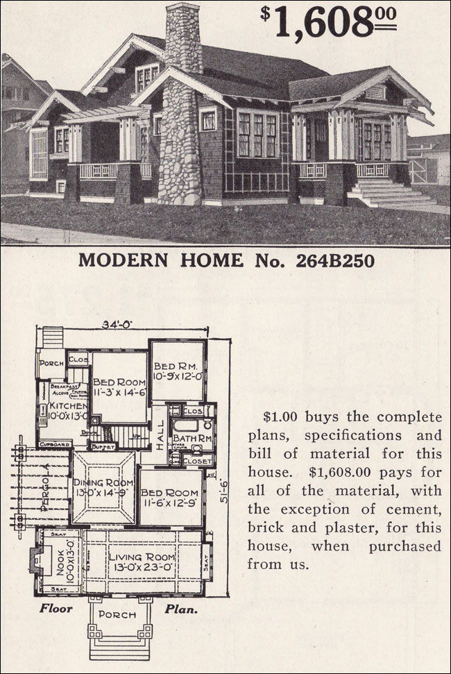Classic Craftsman Style Bungalow Sears Ashmore Modern