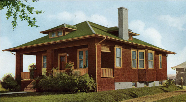 1916 sterling classic cottage hipped roof bungalow for Classic cottage house plans