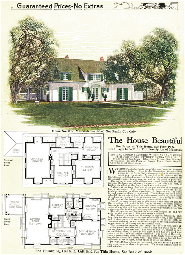 1918 French Eclectic House Gordon Van Tine Model No 711
