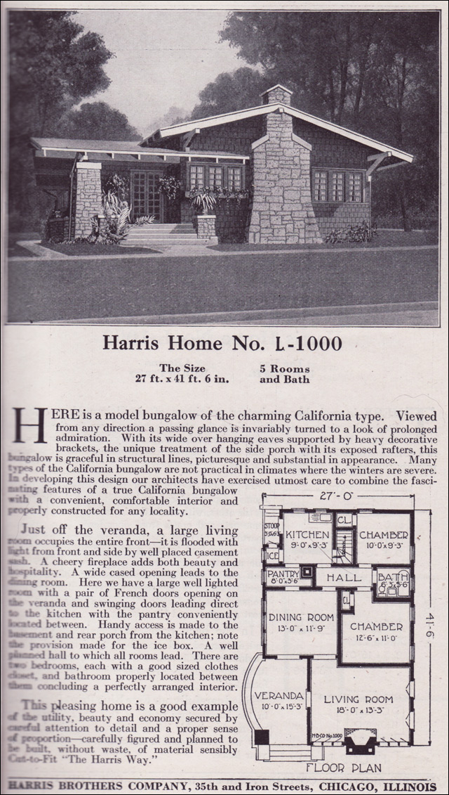 1918 Harris Brothers Co. - Plan L1000