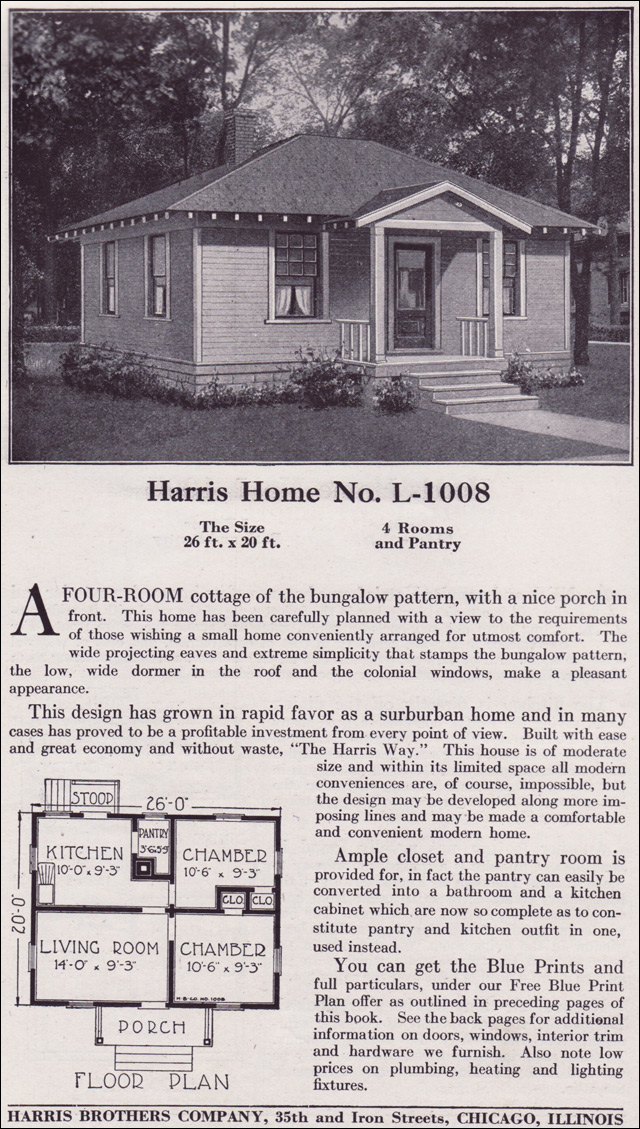 Classic cottage tiny kit homes of the wwi period for Classic bungalow house plans