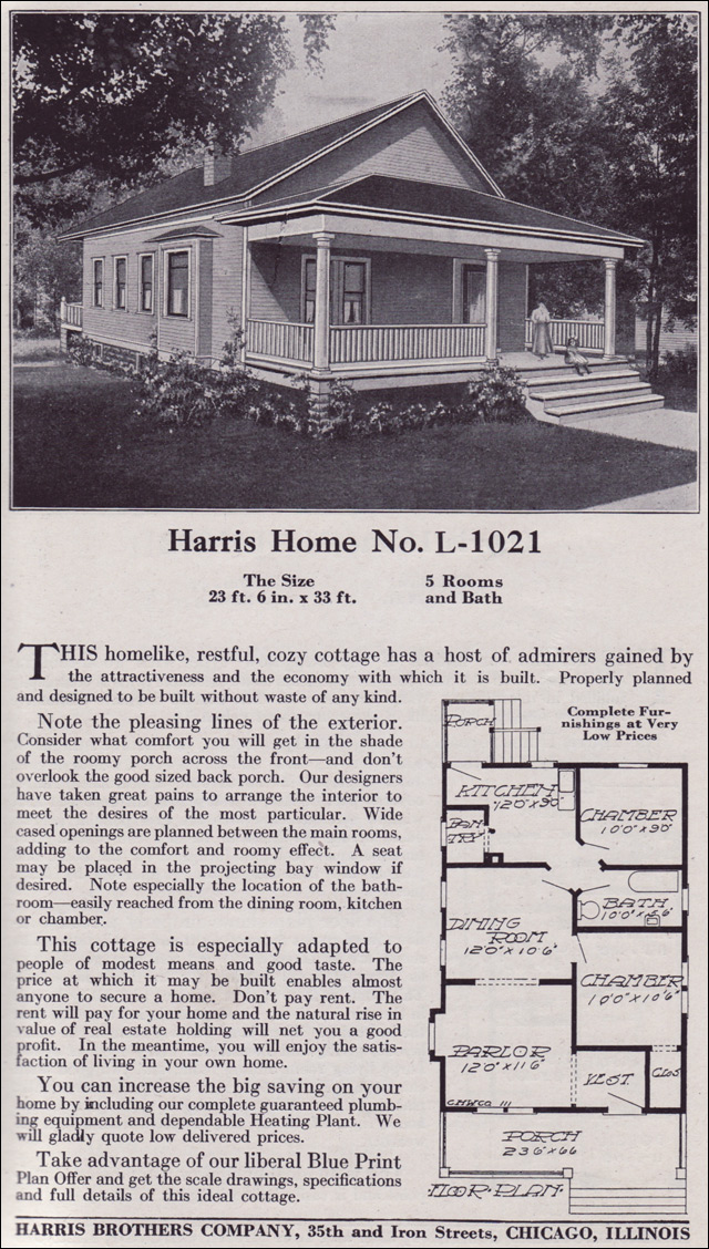 1918 Harris Bros. Co. - Plan No. L-1021