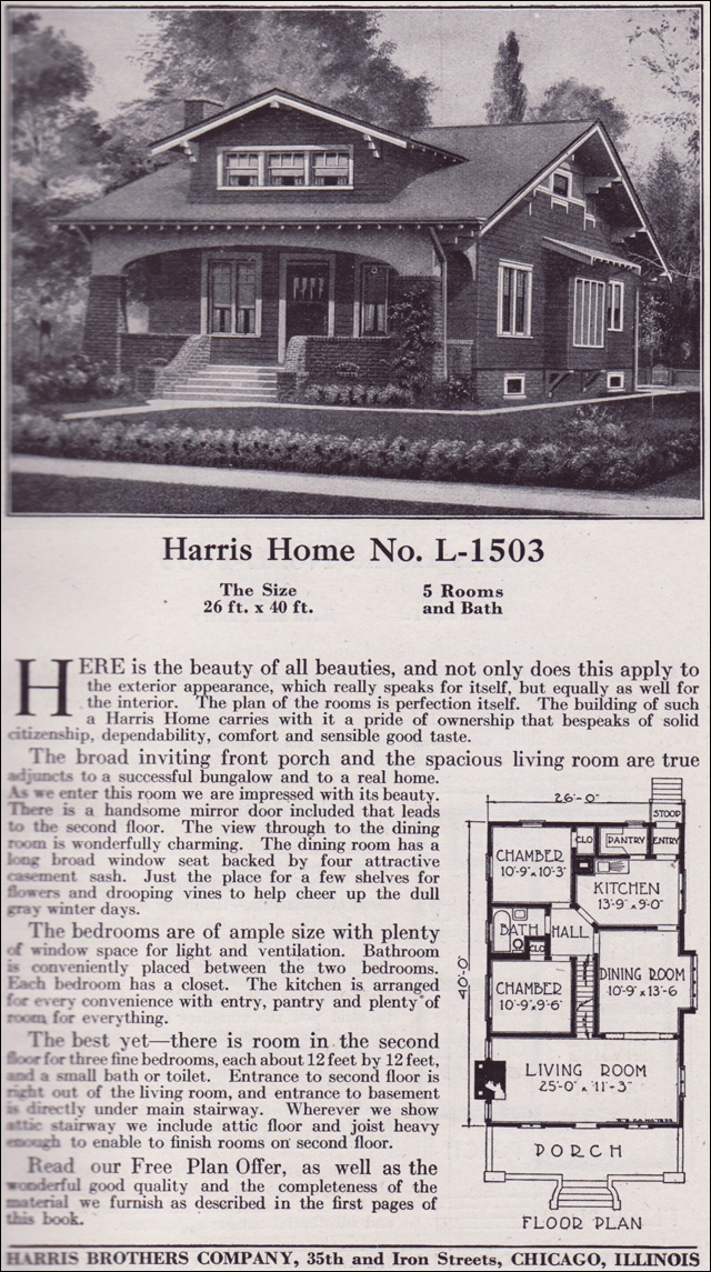 1918 Harris Bros. Co. - Plan L1503