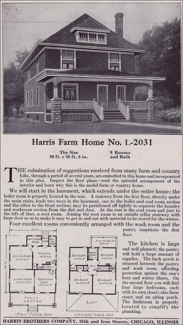 1918 Harris Bros. Co. - Plan No. L-2031
