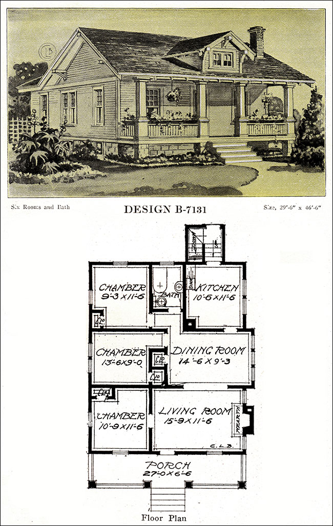 1918 Bungalow With A Full Width Porch And Gable Dormer