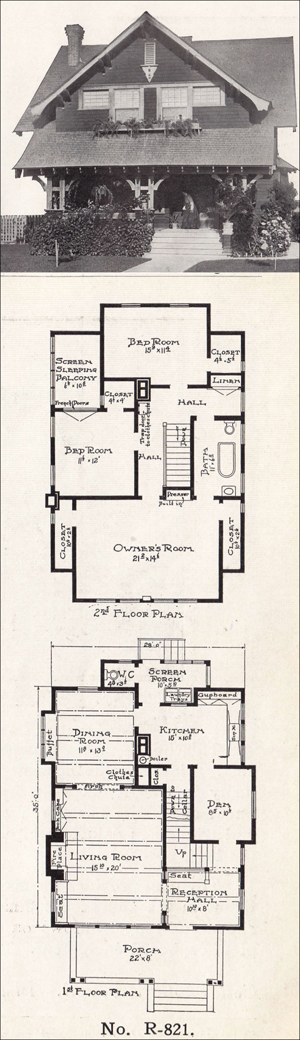 Semi bungalow home design 1918 e w stillwell los angeles California bungalow floor plans