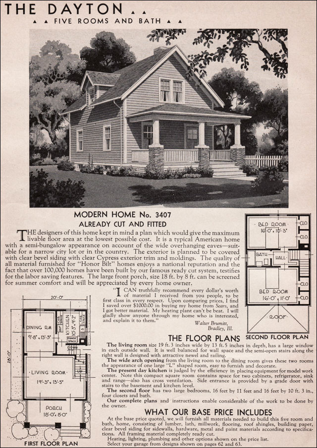 1936 Dayton Kit Home Sears Roebuck 20th Century