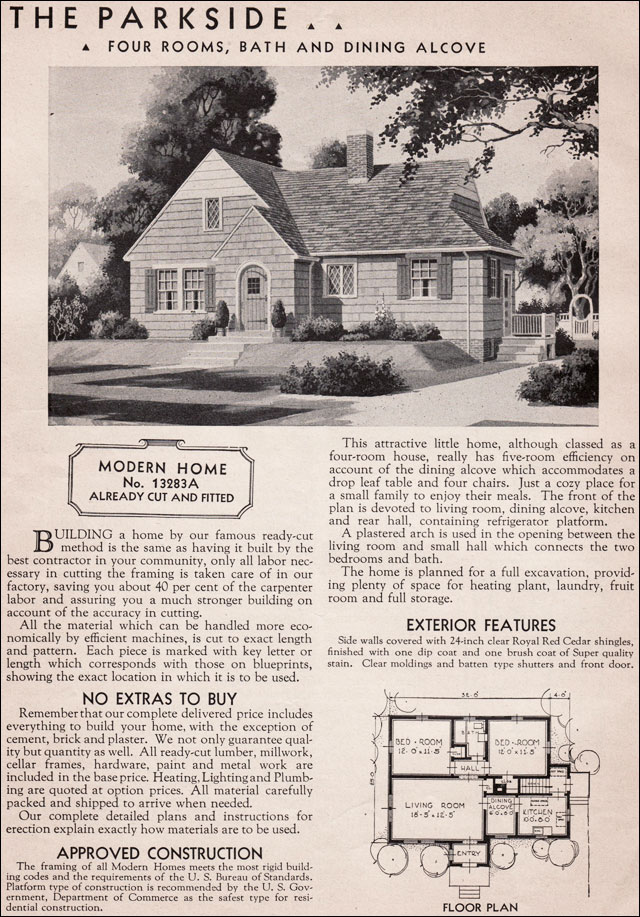 1936 Sears Kit House   Parkside. Sears Modern Homes   1936 Parkside Honor Bilt Kit House  Eclectic