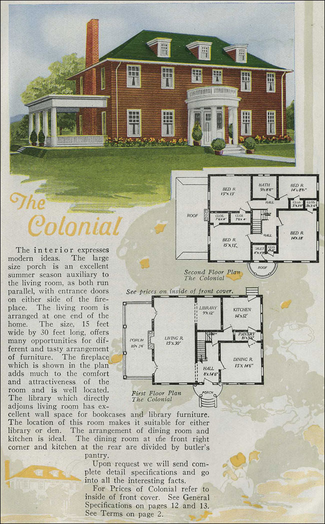1920 Aladdin Homes - Colonial Revival - Half round portico ...