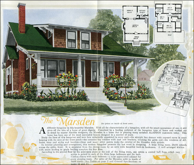 Aladdin Homes Kit Houses 1920 Craftsman Style Bungalow