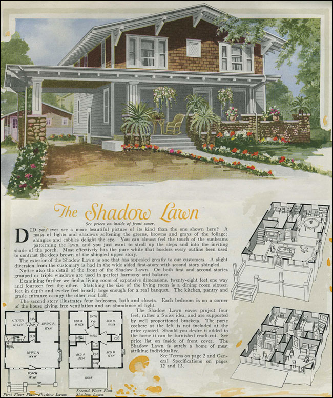 1920 House Plans Swiss Chalet Bungalow Aladdin Kit