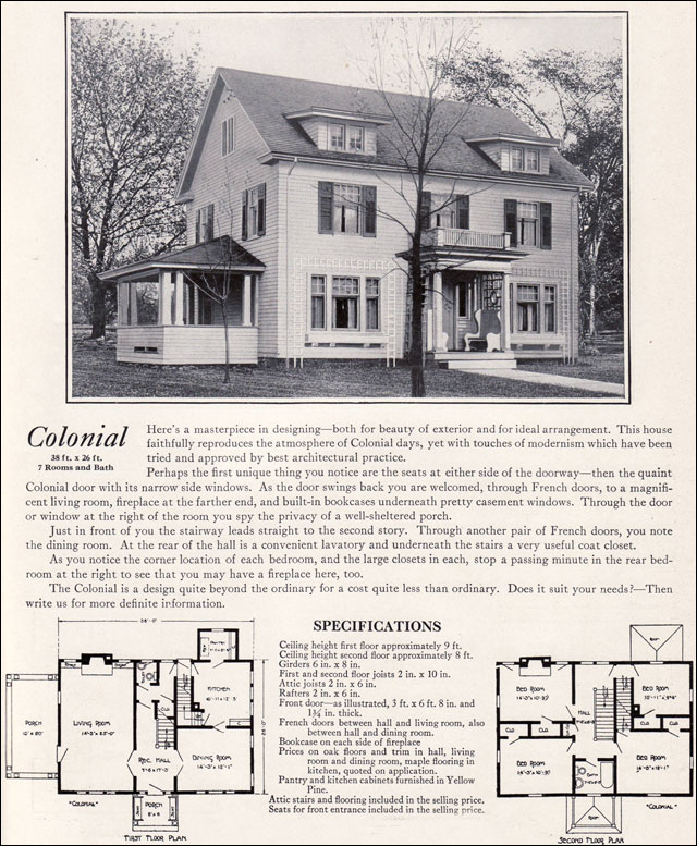 Colonial Revival House Plans 1920 Image of Local Worship