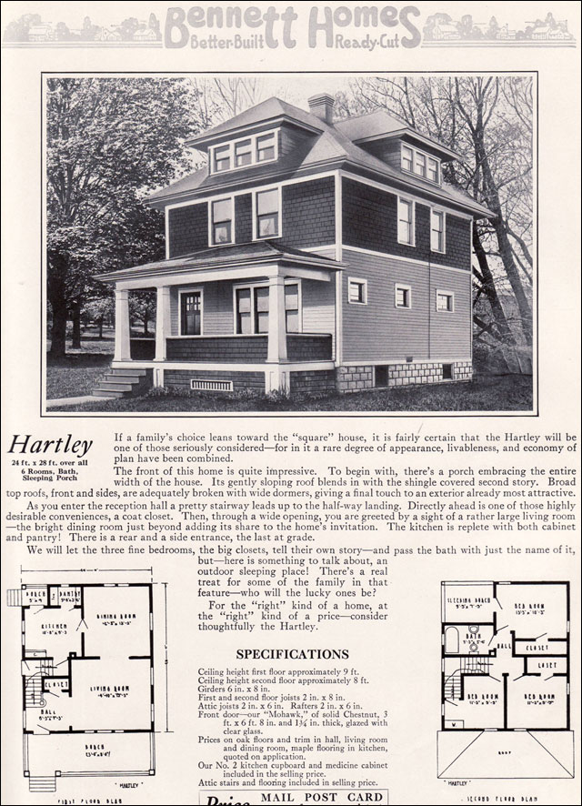 Ameerican Foursquare The Hartley 1922 Bennett Homes
