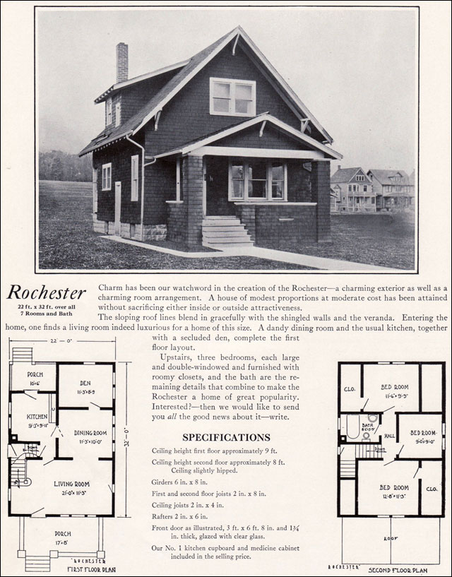 1920s Modern Vernacular Bungalow 1922 Rochester By