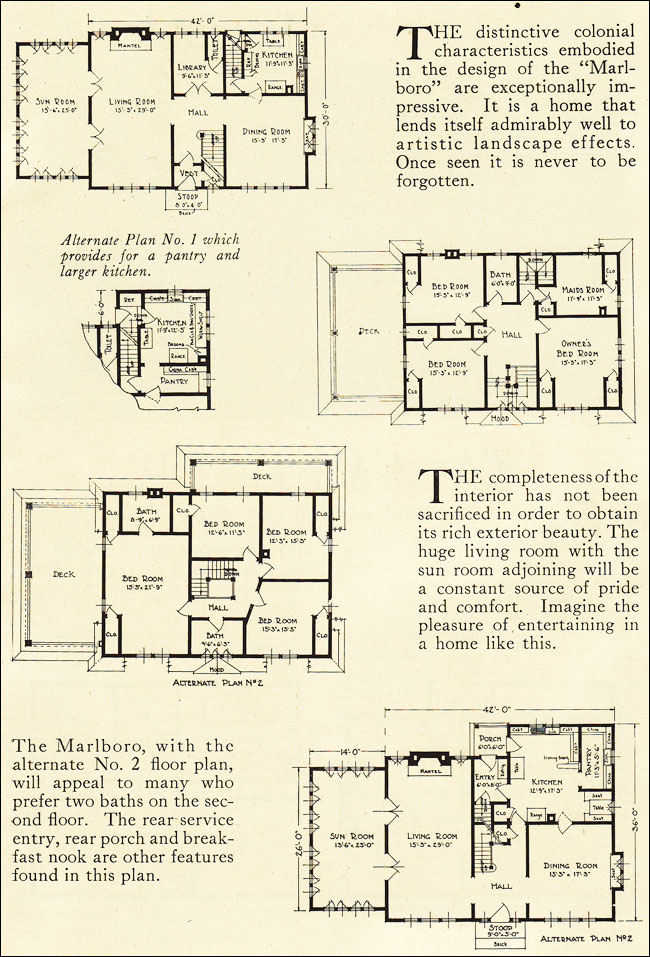 Dutch Colonial Revival Floor Plans