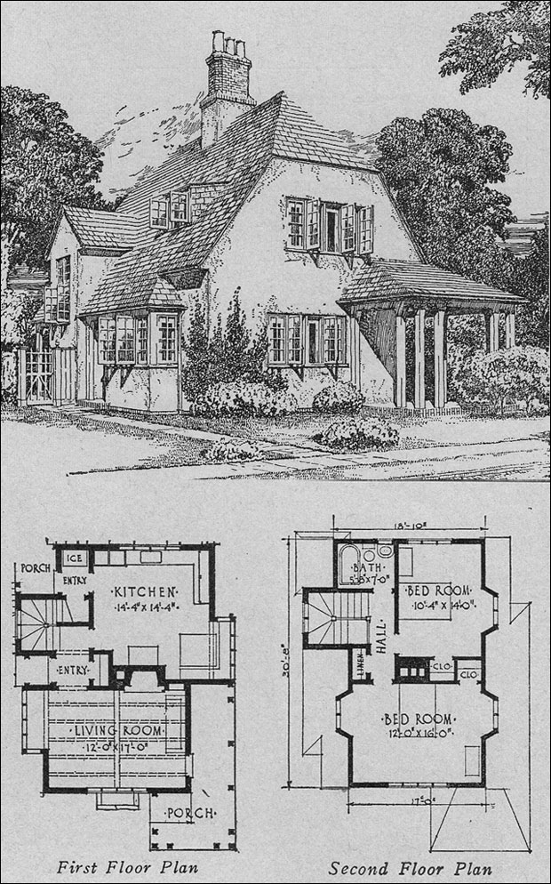 1920s english cottage small homes books of a thousand for House floor plan books