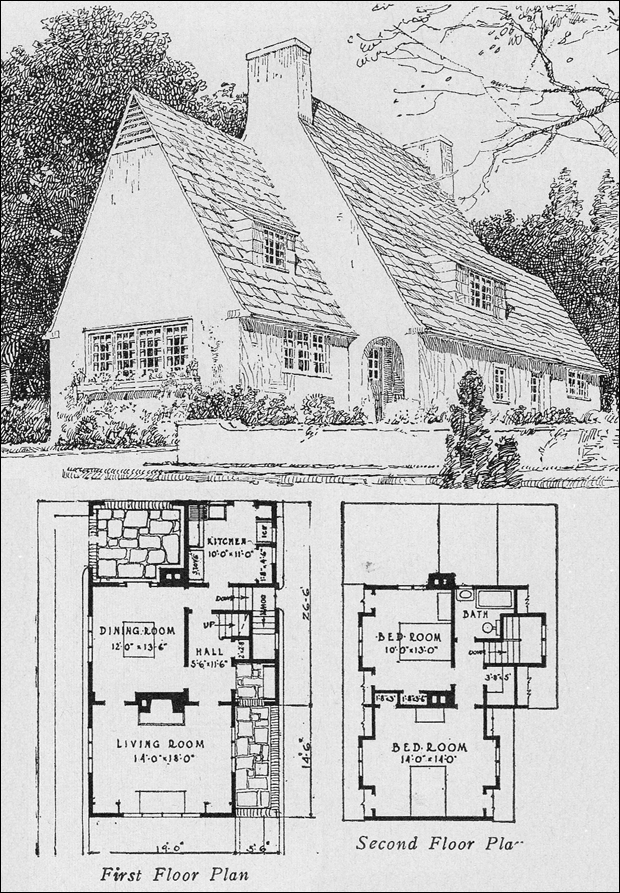 1920s english cottage small homes books of a thousand for English cottage house plans