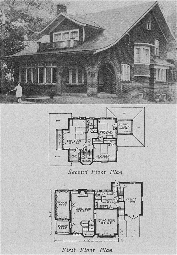 1923 Brick Semi Bungalow Face Brick Home Books Of A