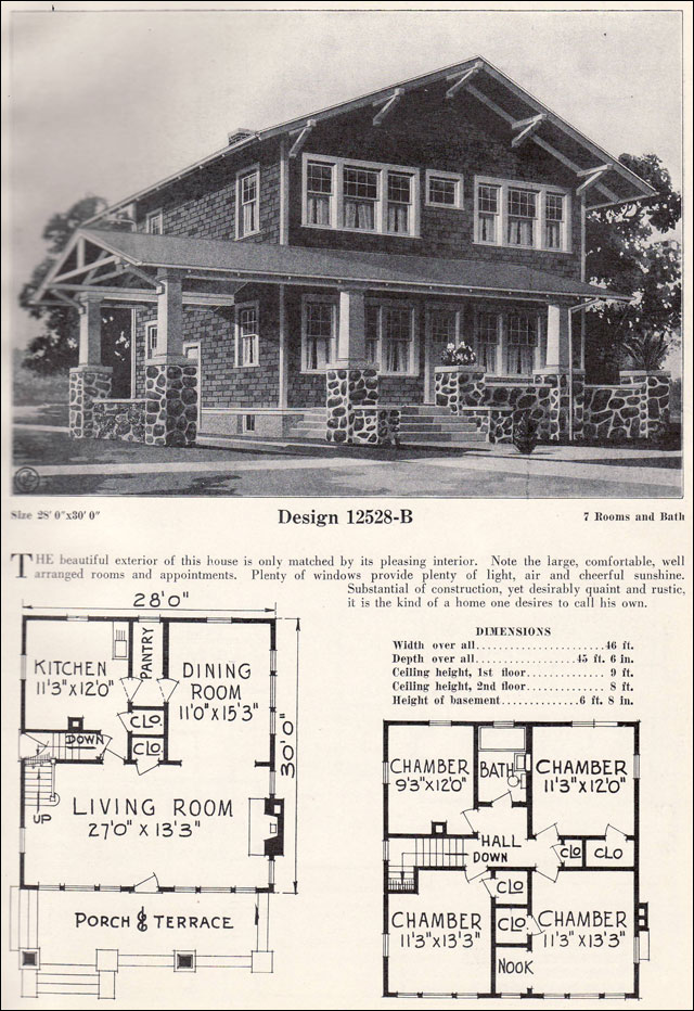 C l bowes company c 1923 swiss chalet bungalow porte cochere vintage house plans - Swiss style house plans ...