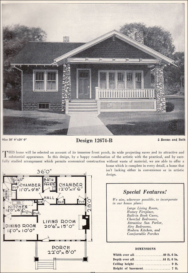 Craftsman style cottage plans Small Two Bedroom Bungalow Cottage