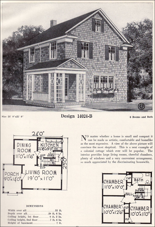 Colonial revival house plans 1920 home design and style for 1920 house plans