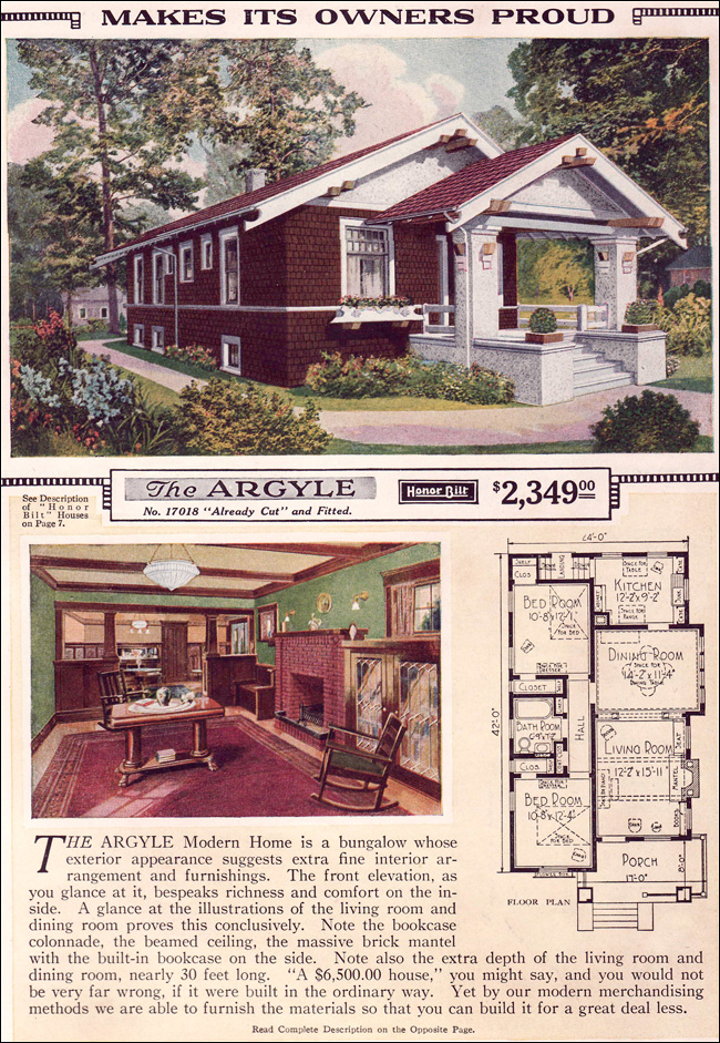 Sears craftsman home plans find house plans for Vintage home plans